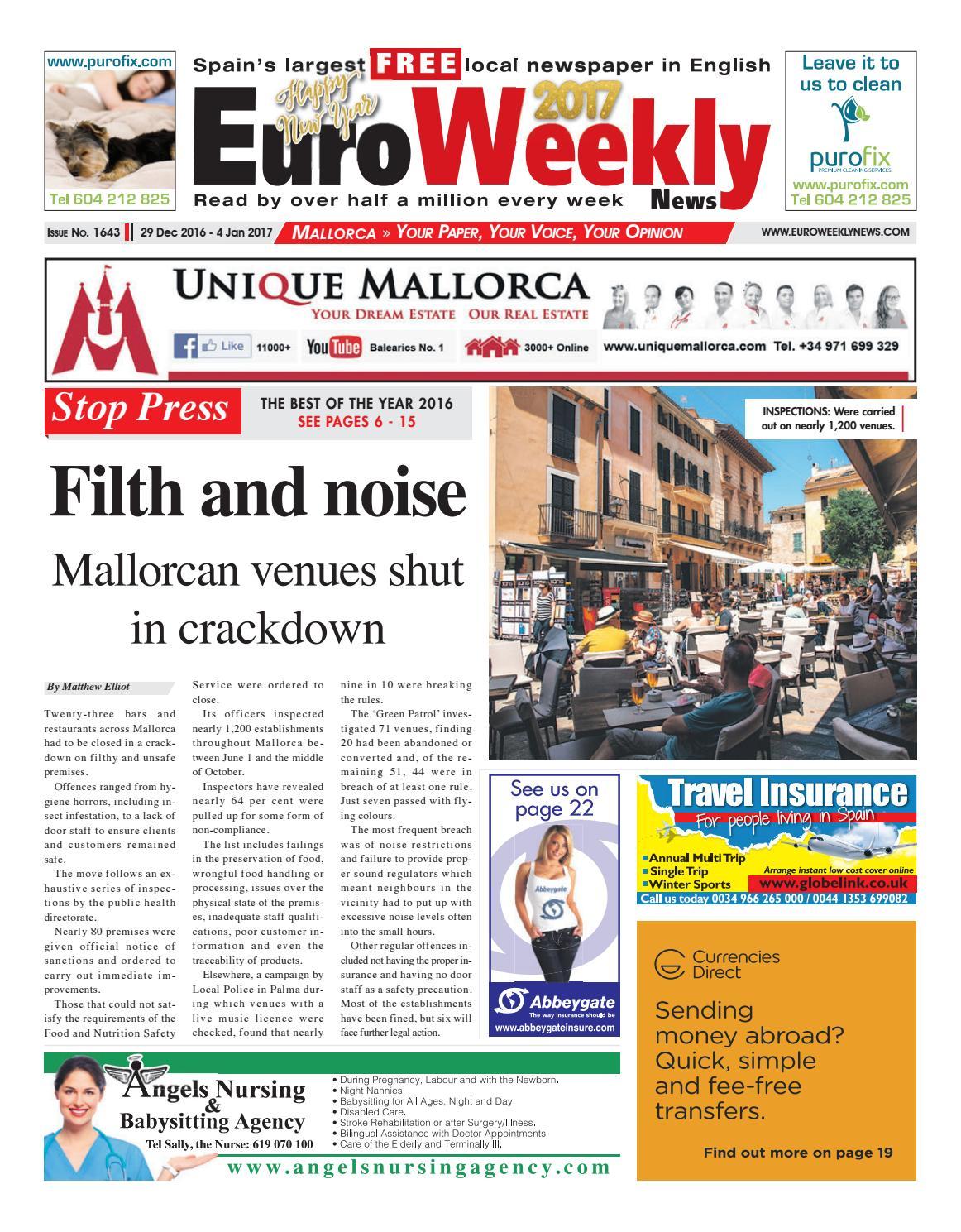 Euro Weekly News - Mallorca 29 December 2016 - 4 January ...