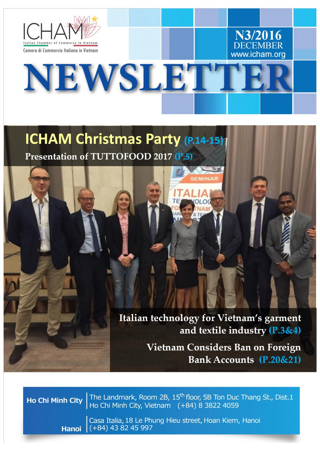ICHAM - Newsletter N 3/2016 - EN by ICHAM Vietnam - issuu