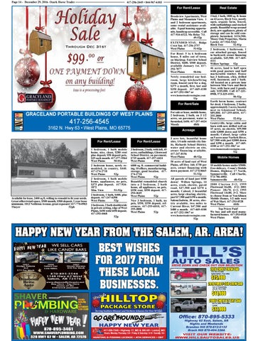 Perfect Page 14   December 29, 2016  Ozark Horse Trader