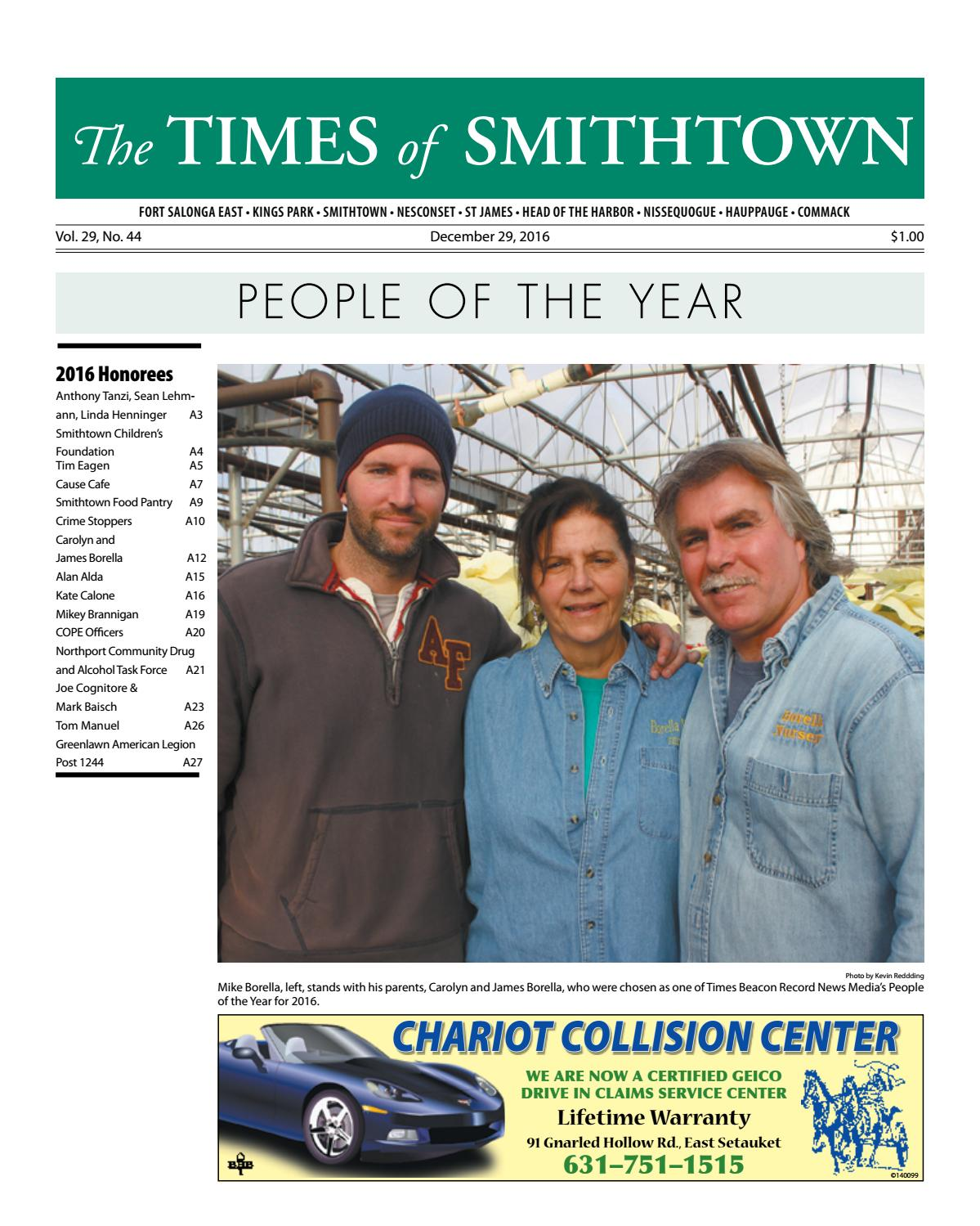 Manuel Collision Center >> The Times of Smithtown - December 29, 2016 by TBR News Media - Issuu