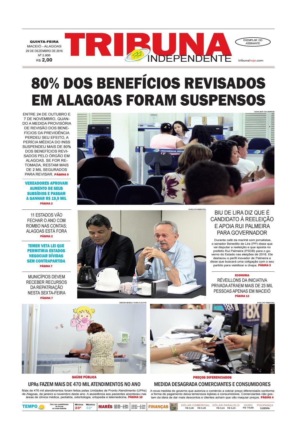 Edição número 2806 - 29 de dezembro de 2016 by Tribuna Hoje - issuu c3eaf57d65102