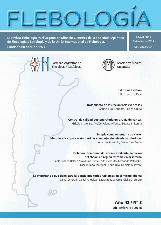 Revista Flebología Nº 3 de 2016 by Sociedad Argentina de Flebología ...