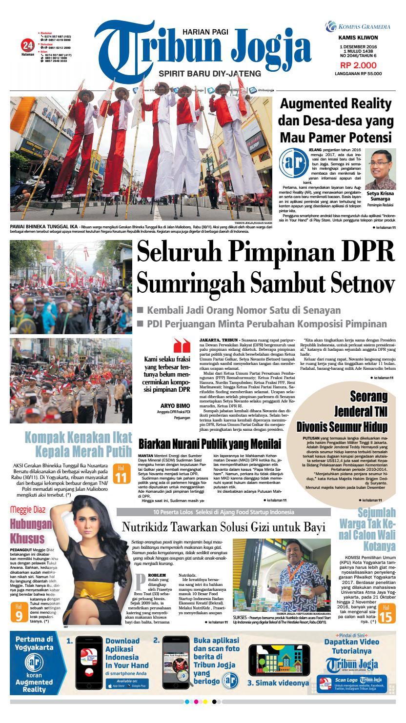 Tribunjogja 01 12 2016 By Tribun Jogja Issuu Produk Ukm Bumn Pusaka Coffee 15 Pcs Kopi Herbal Nusantara Free Ongkir Depok Ampamp Jakarta