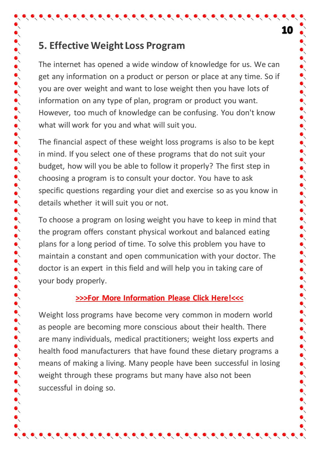 how much are weight loss programs