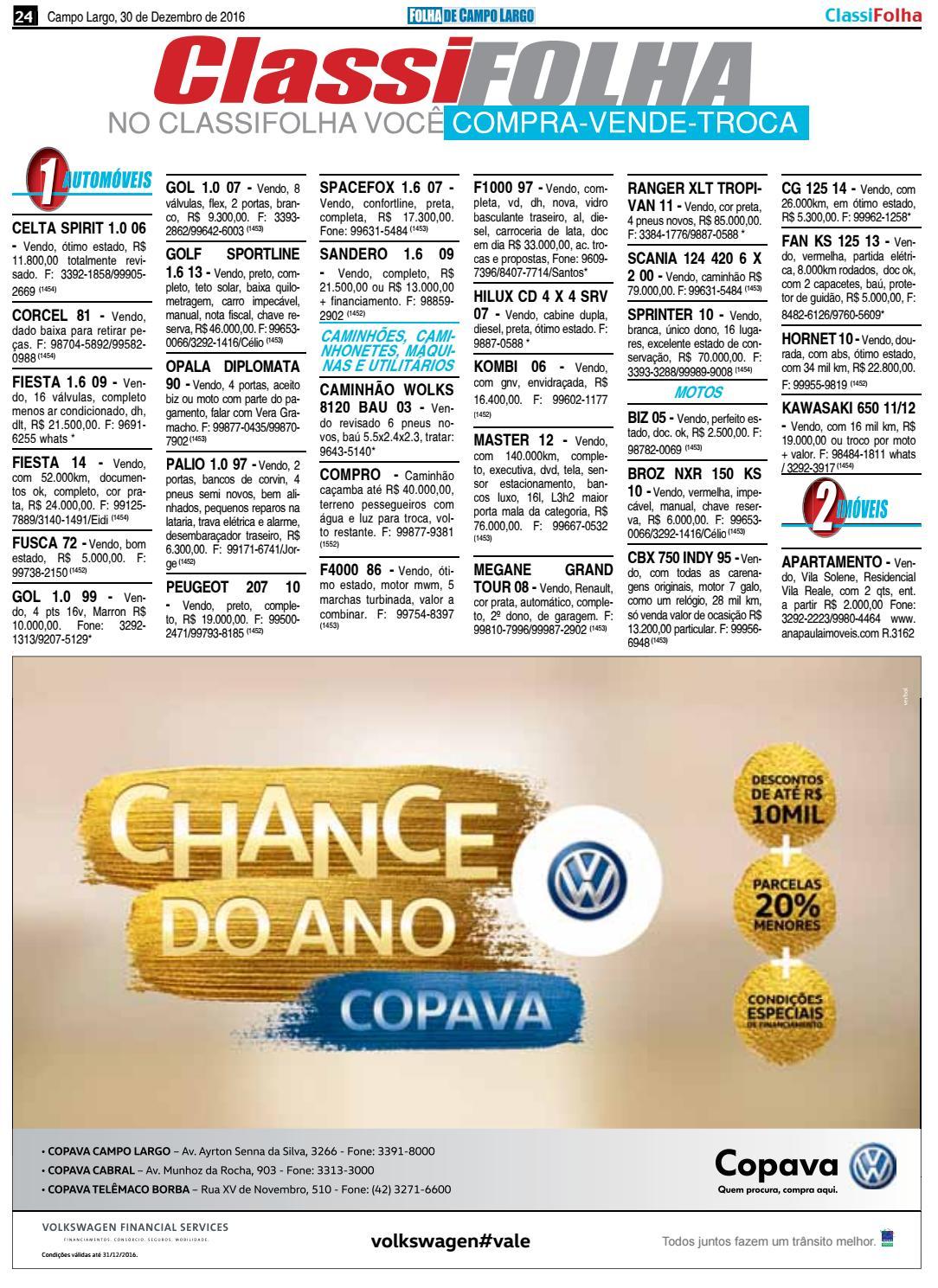 Edição 1452 - 30 12 16 by Folha de Campo Largo - issuu