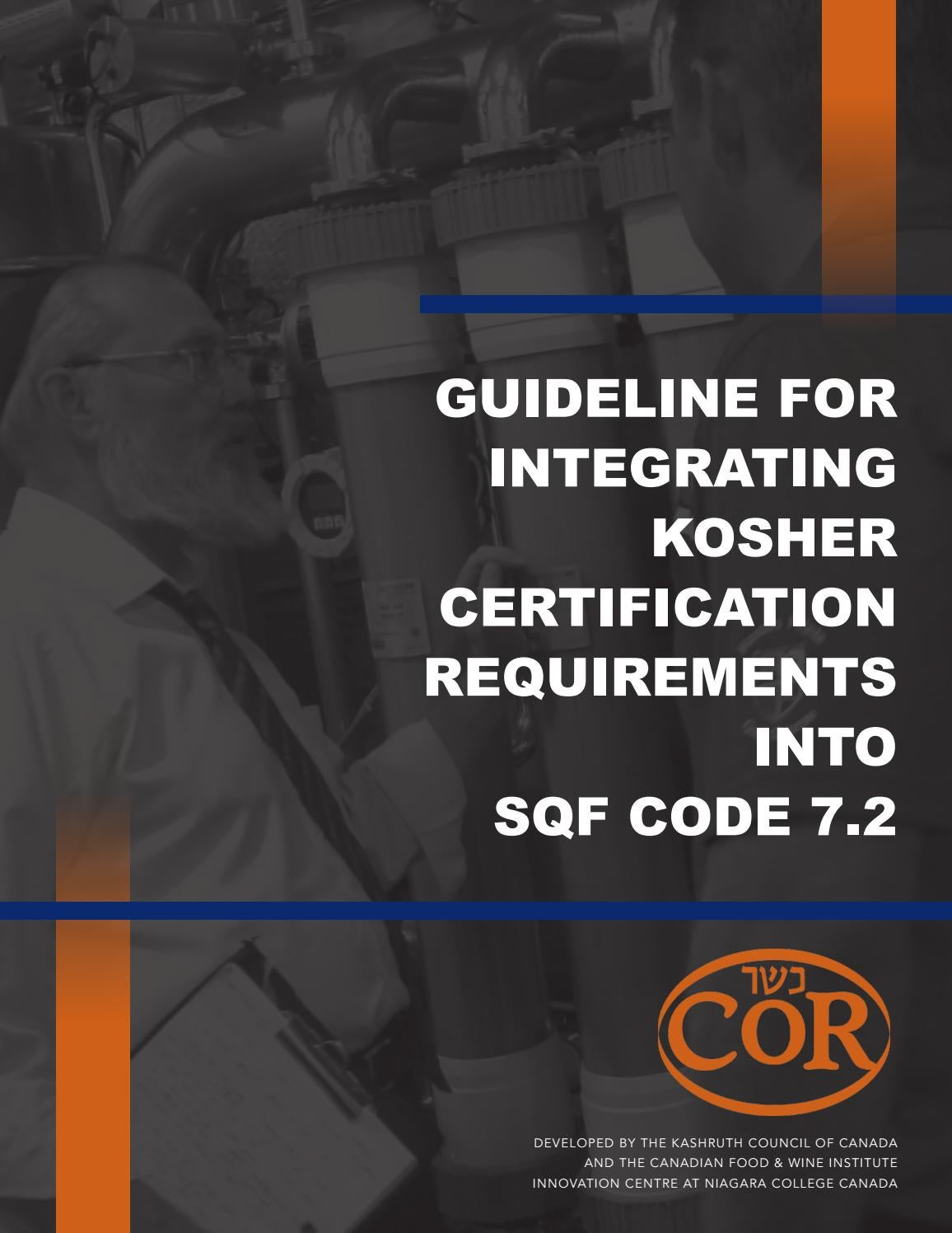 Guideline for integrating kosher certification requirements into guideline for integrating kosher certification requirements into sqf code 72 by cor kashruth council of canada issuu biocorpaavc
