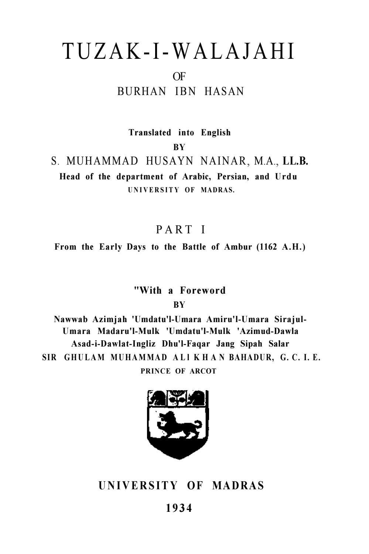 Tuzakiwalajahiofburhanibnhasanpart by Perjada Nurmohamad - issuu