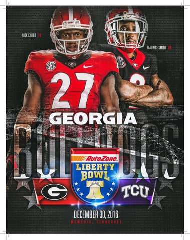 eacfd84c0 Georgia Bulldogs - 2016 AutoZone Liberty Bowl Guide The University of  Georgia LOCATION.