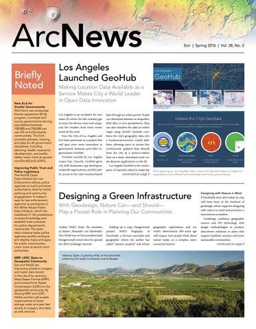 Designing A Green Infrastructurearcnews Esri By Gispain Issuu