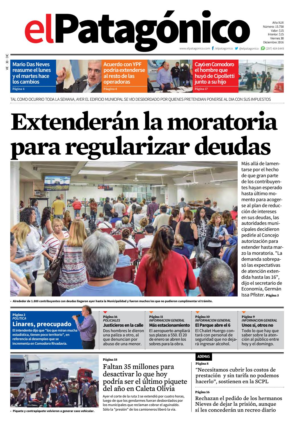 edicion232529122016.pdf by El Patagonico - issuu