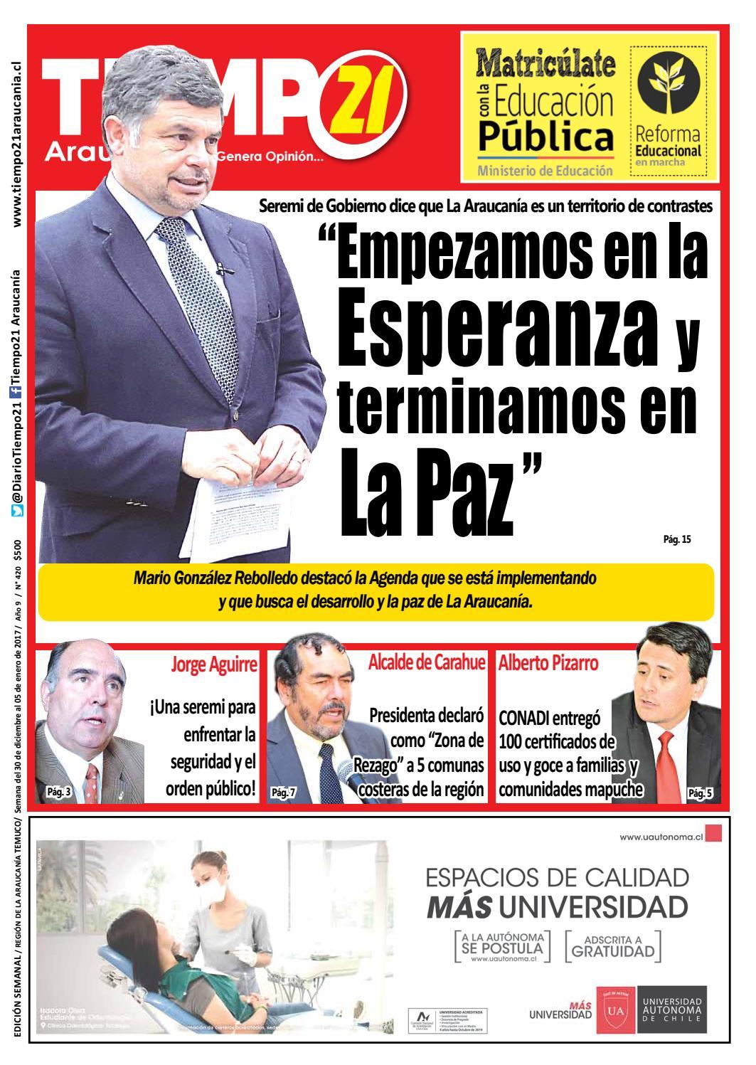 Edici N 420 Seremi De Gobierno Empezamos En La Esperanza Y  # Muebles Fourcade Limitada