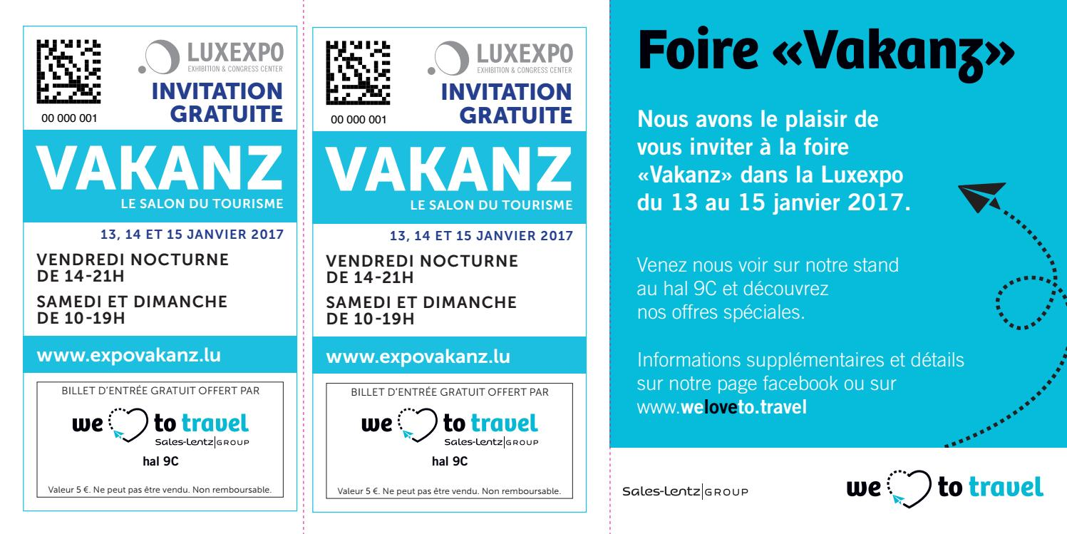 Invitation foire vakanz 2017 fr by wltt s a issuu - Foire d automne 2017 invitation gratuite ...