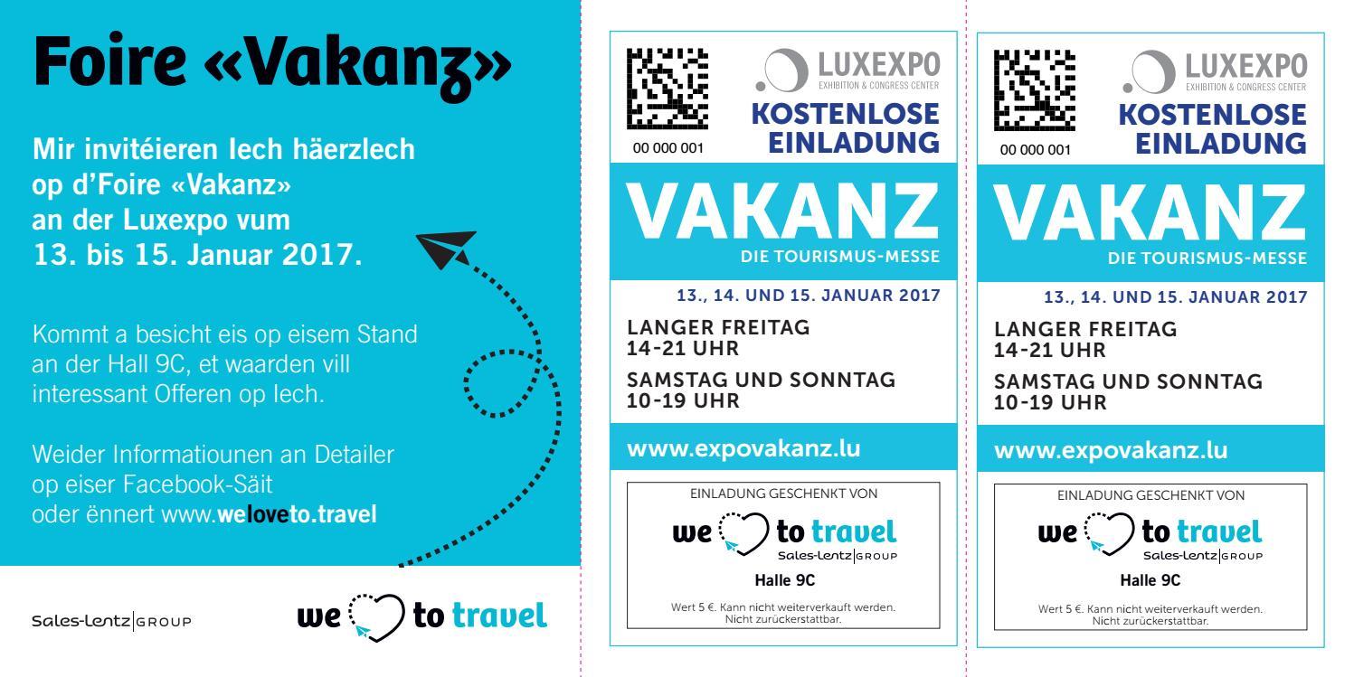 invitation foire vakanz 2017 lu by we love to travel - issuu, Einladung