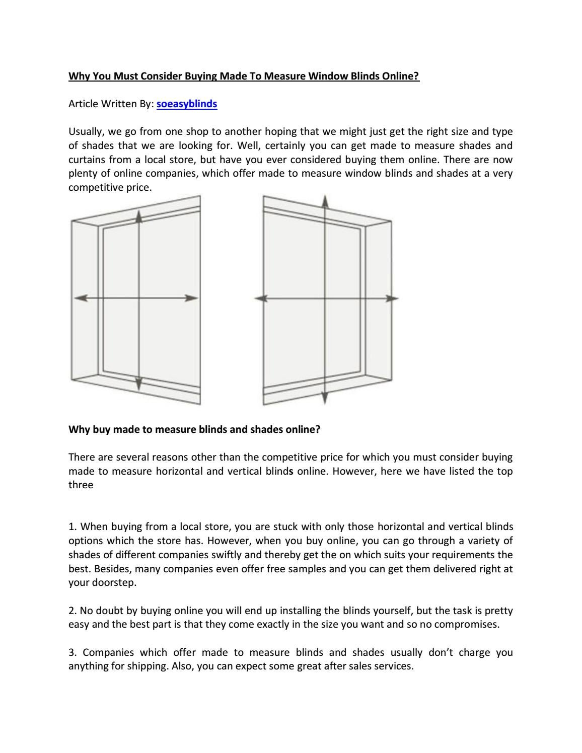 Why You Must Consider Ing Made To Measure Window Blinds Online