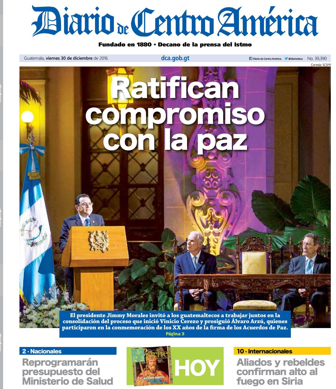DCA Viernes 30122016 by Diario de Centro América Guatemala - issuu