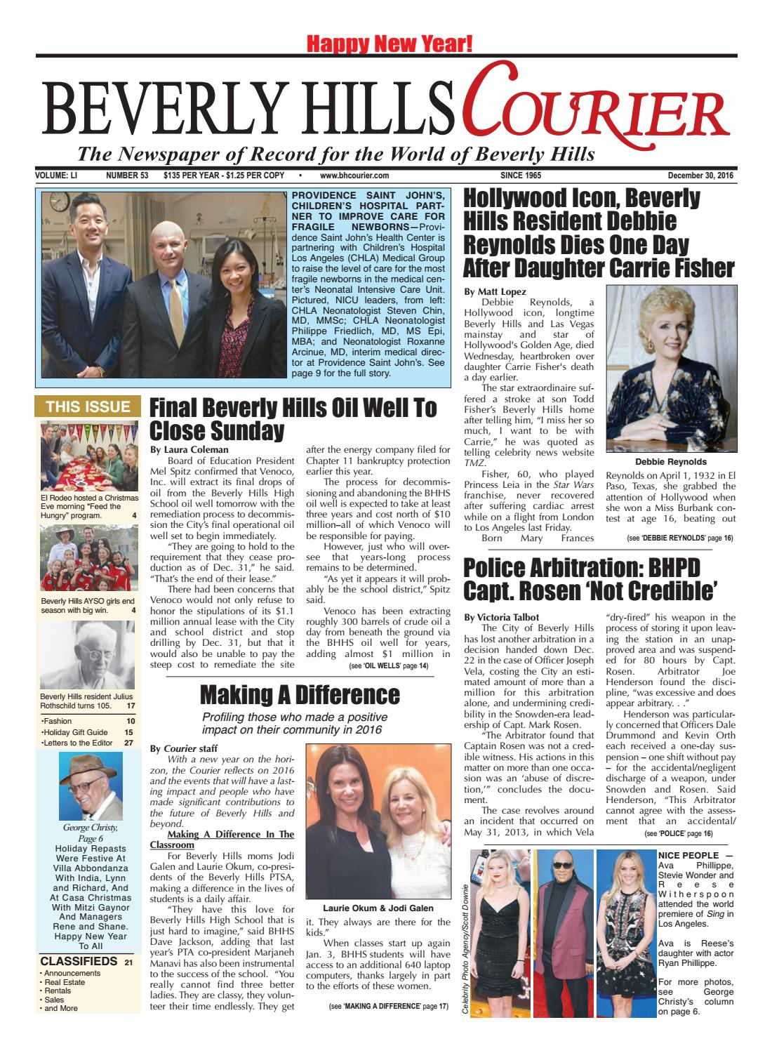 BHCourier E-edition 123016 by The Beverly Hills Courier - issuu