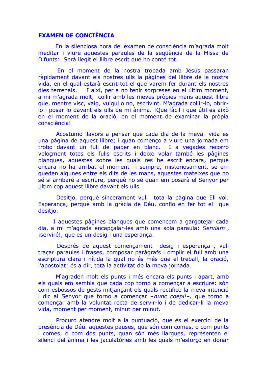 Exàmen De Conciència Dr Canals Català By Oriol Serra Pujol