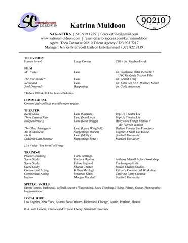 Muldoon resume by Katrina Muldoon - issuu