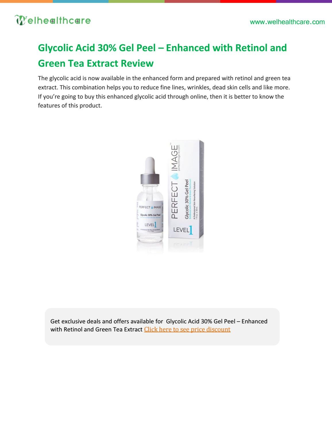 Perfect Image Glycolic Peel 30 Level 1 30ml Health Beauty On