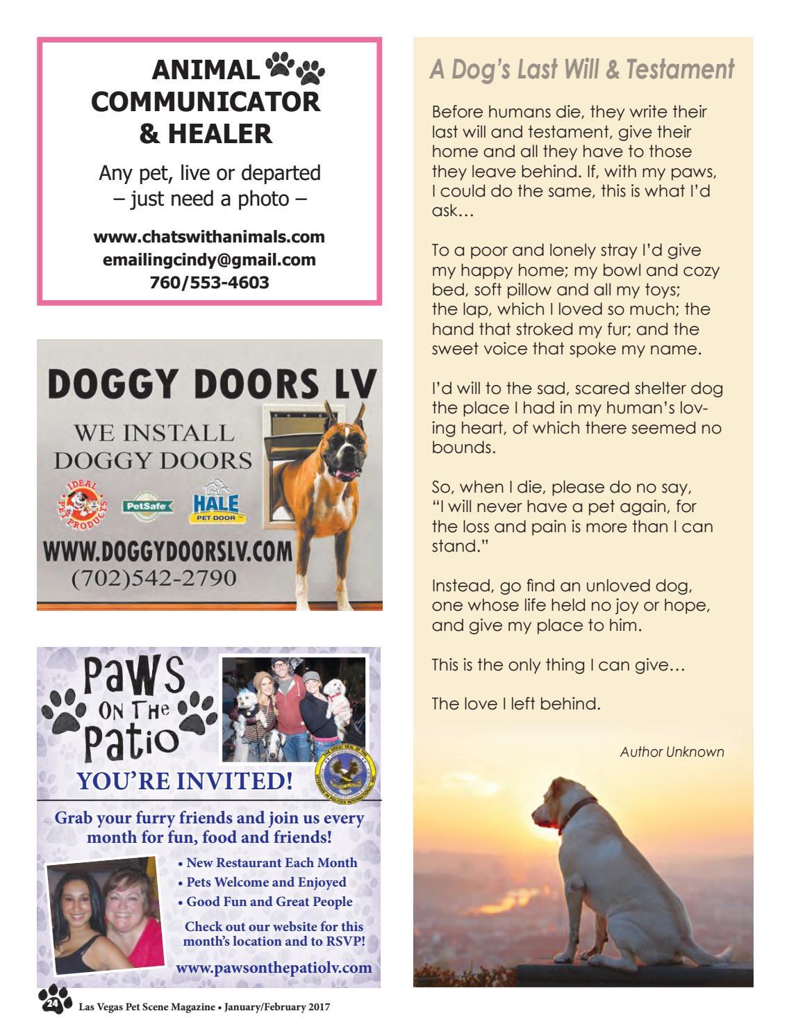Las Vegas Pet Scene Magazine – January/February 2017 by Homes