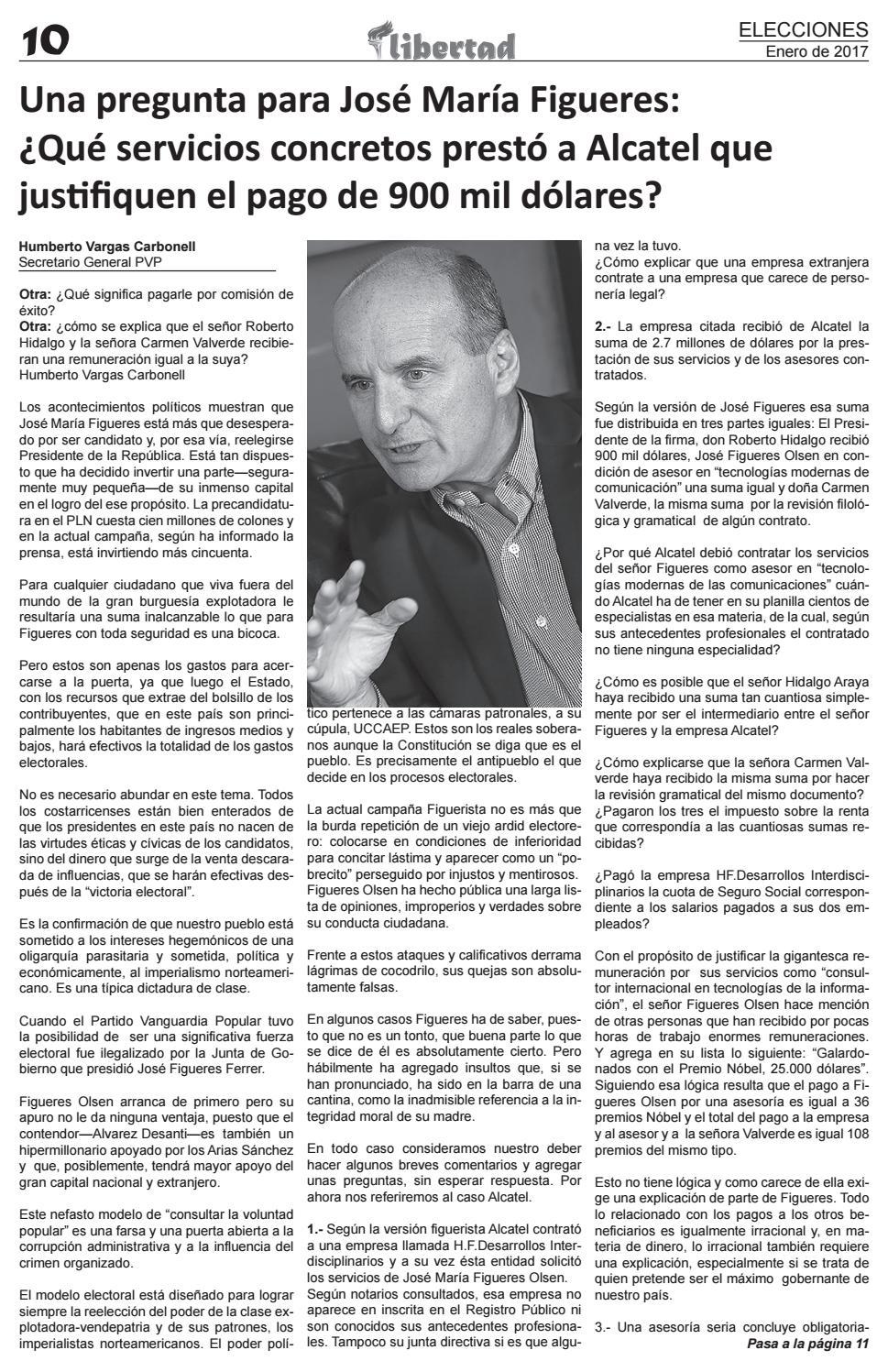 Libertad Edicion 1 by Vanguardia Popular CRC - issuu