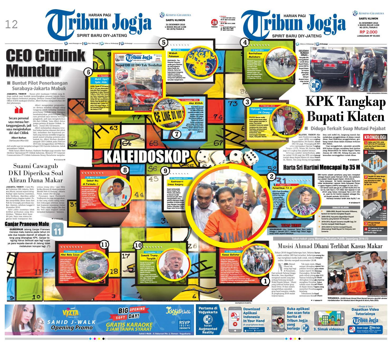 Tribunjogja 31 12 2016 By Tribun Jogja Issuu Produk Ukm Bumn Tenun Pagatan Kemeja Pria Biru Kapal
