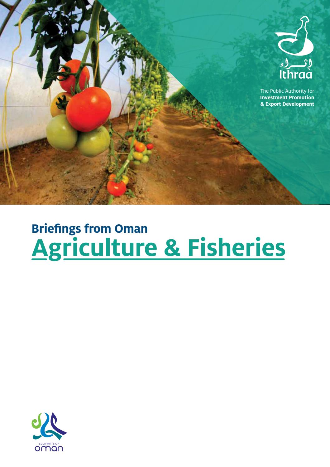 Agriculture & Fisheries by Ithraa Oman - issuu