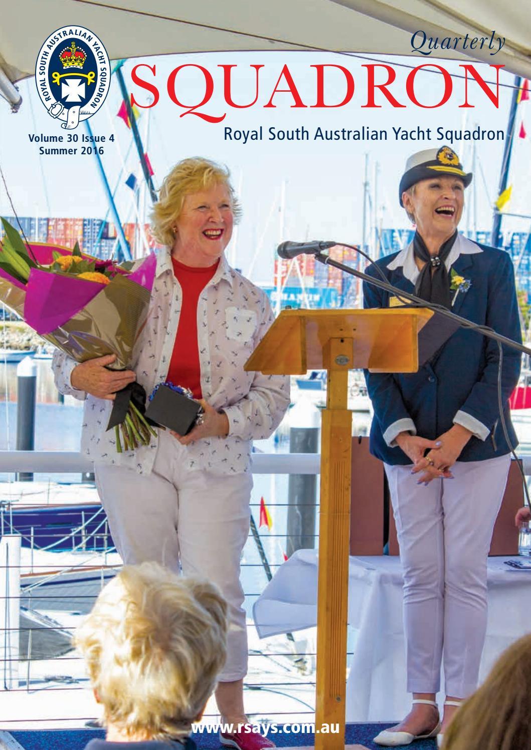 RSAYS Squadron Quarterly Summer 2016 by Royal South Australian ...