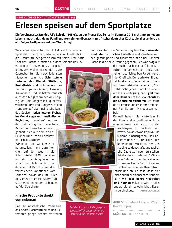 Deutsche Küche Leipzig   Urbanite Stadtmagazin Leipzig Januar 2017 By Urbanite Issuu
