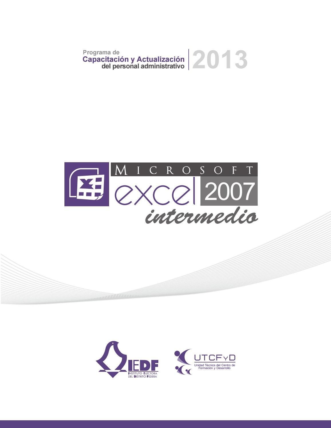 Manual excel intermedio by rolando gomez - issuu