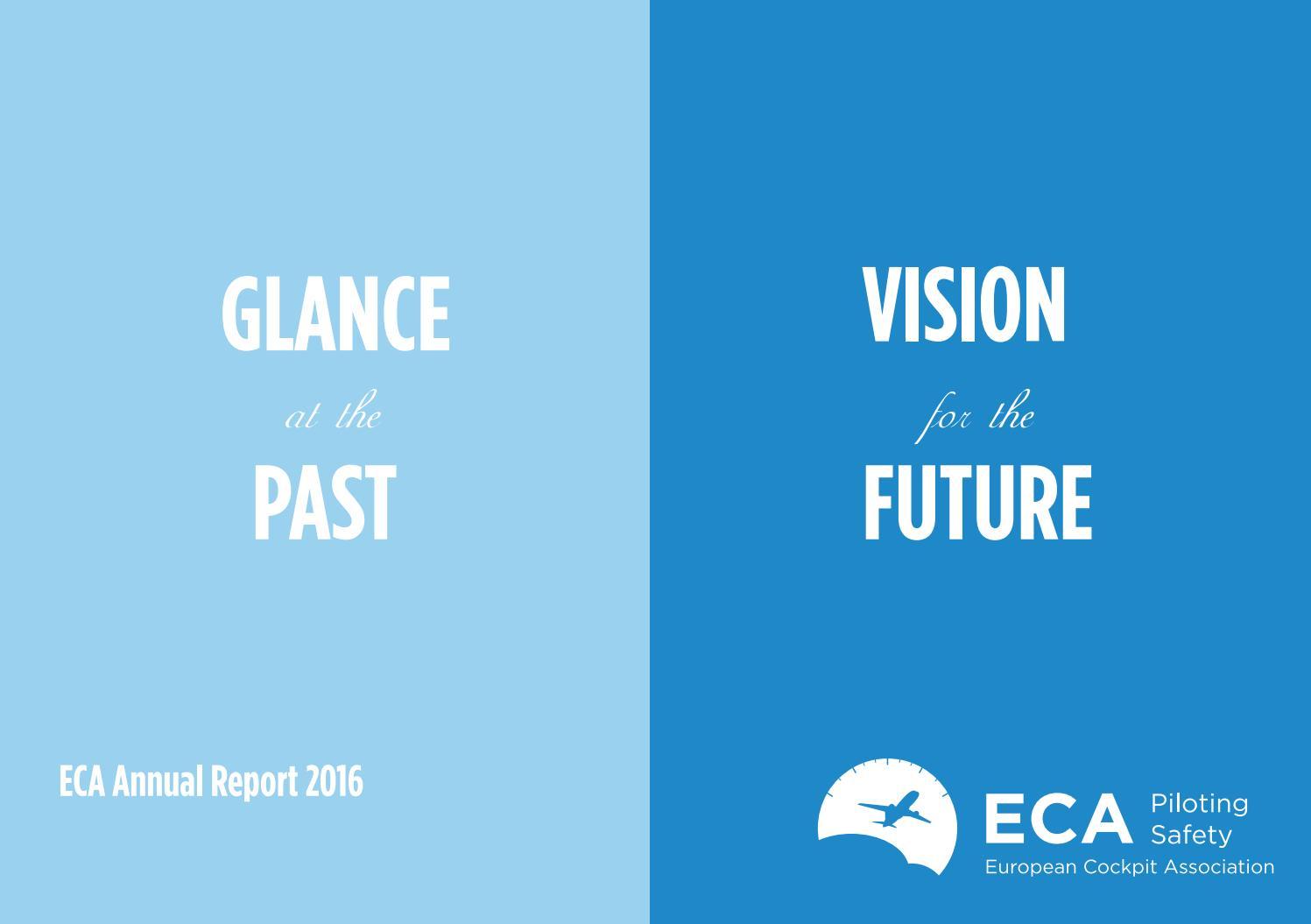 European Cockpit Association Eca: Eca Annual Report 2016 By European Cockpit Association ECA