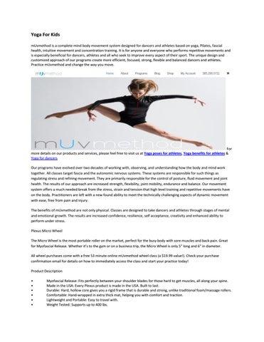 eb5c7e078a Yoga for kids by mUvmethod - issuu