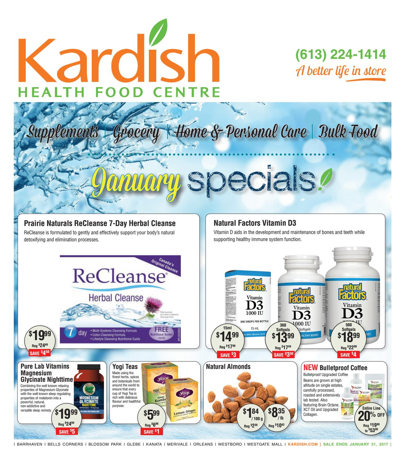 Kardish January 2017 Specials Flyer By Health Food Centre Udos Oil 369 Omega Issuu