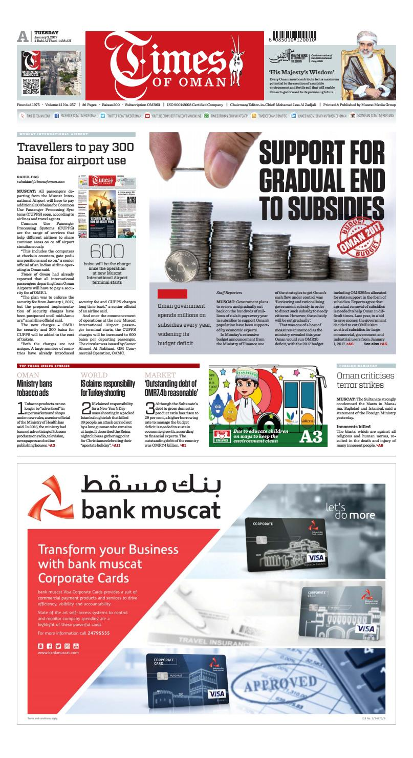 Times of Oman - January 3, 2017 by Muscat Media Group - issuu