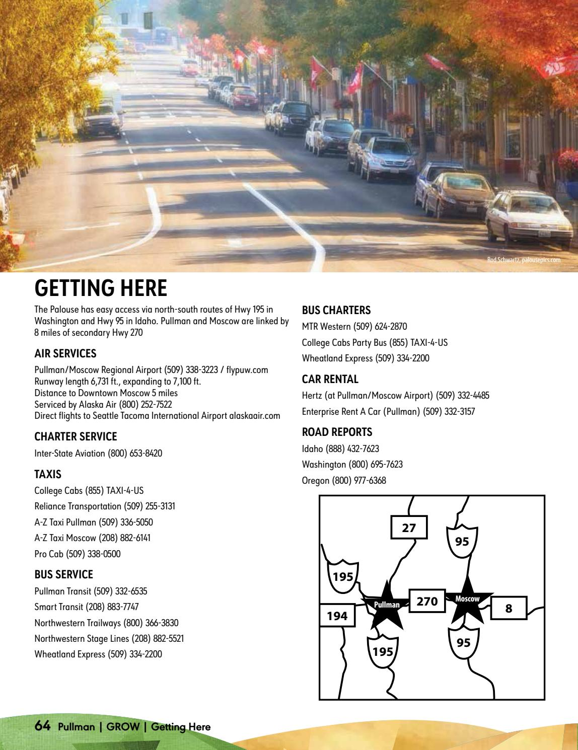College Cabs Pullman >> Pullman Activities Guide 2017 By Hannah Crawford Issuu
