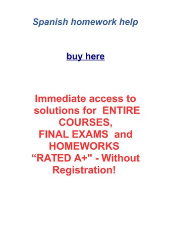 Spanish 2 homework help