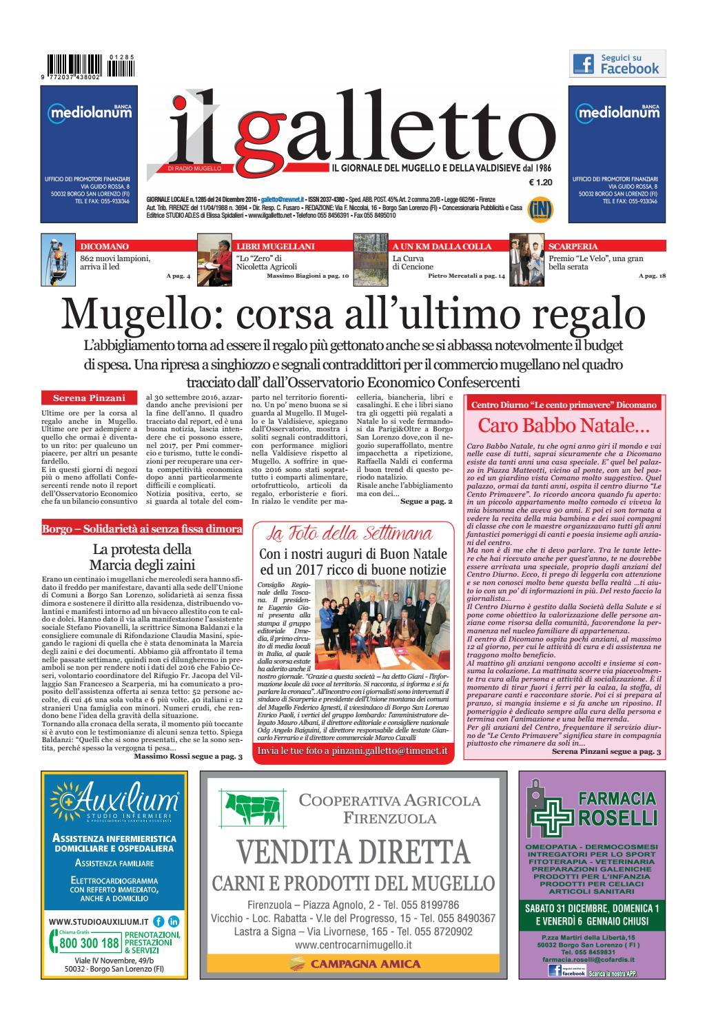 Galletto 1285 Del 24 Dicembre 2016 By Il Galletto Giornale Issuu