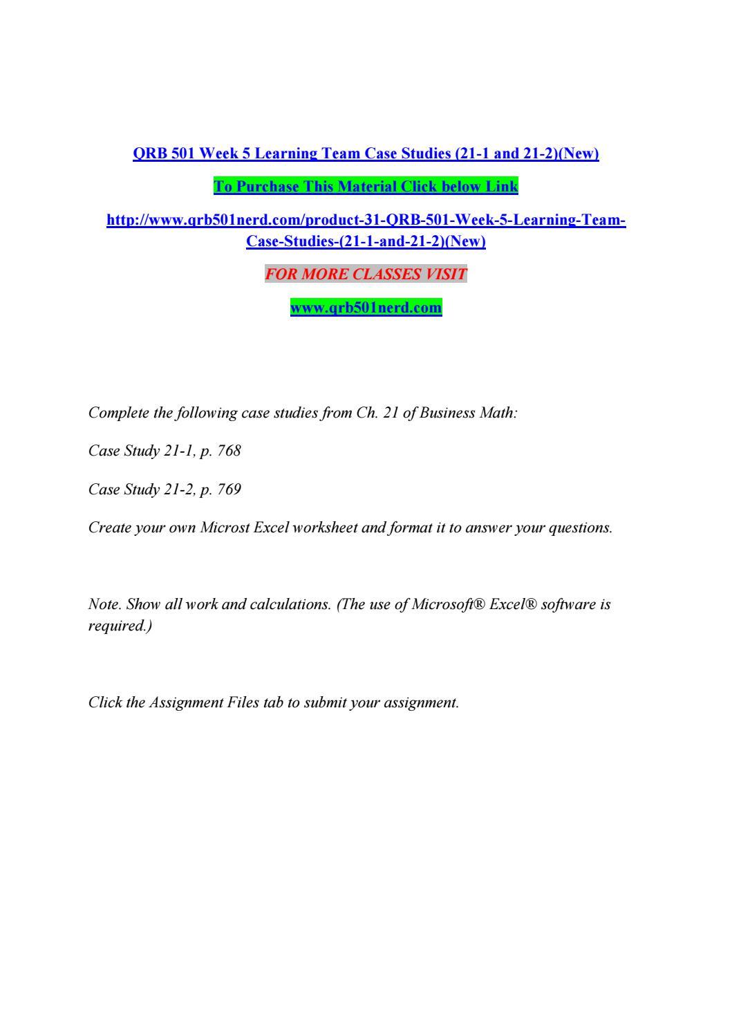 case study 21-2 p769