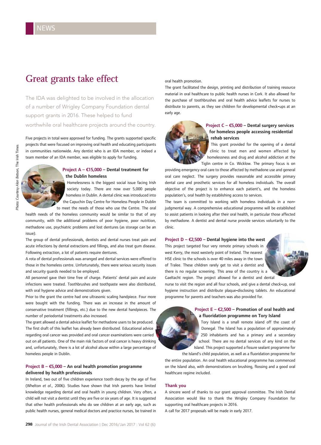 Journal of the Irish Dental Association December January