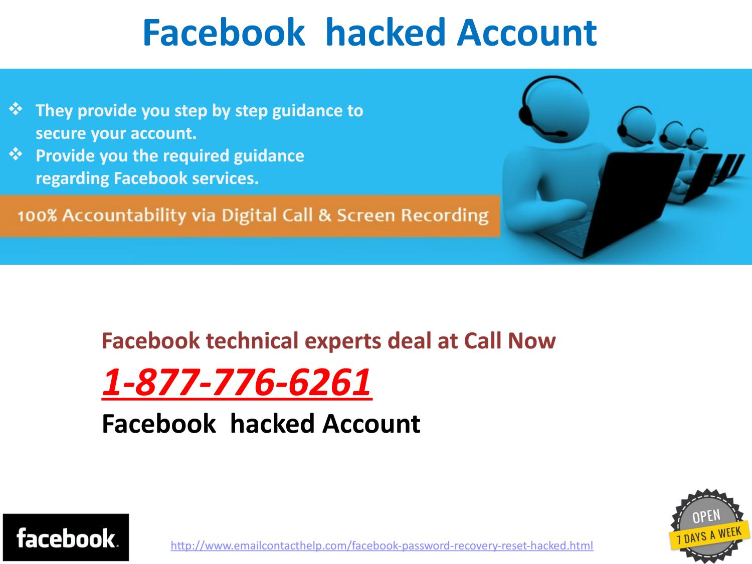 Facebook hacked Account 1-877-776-6261 Is What You Are
