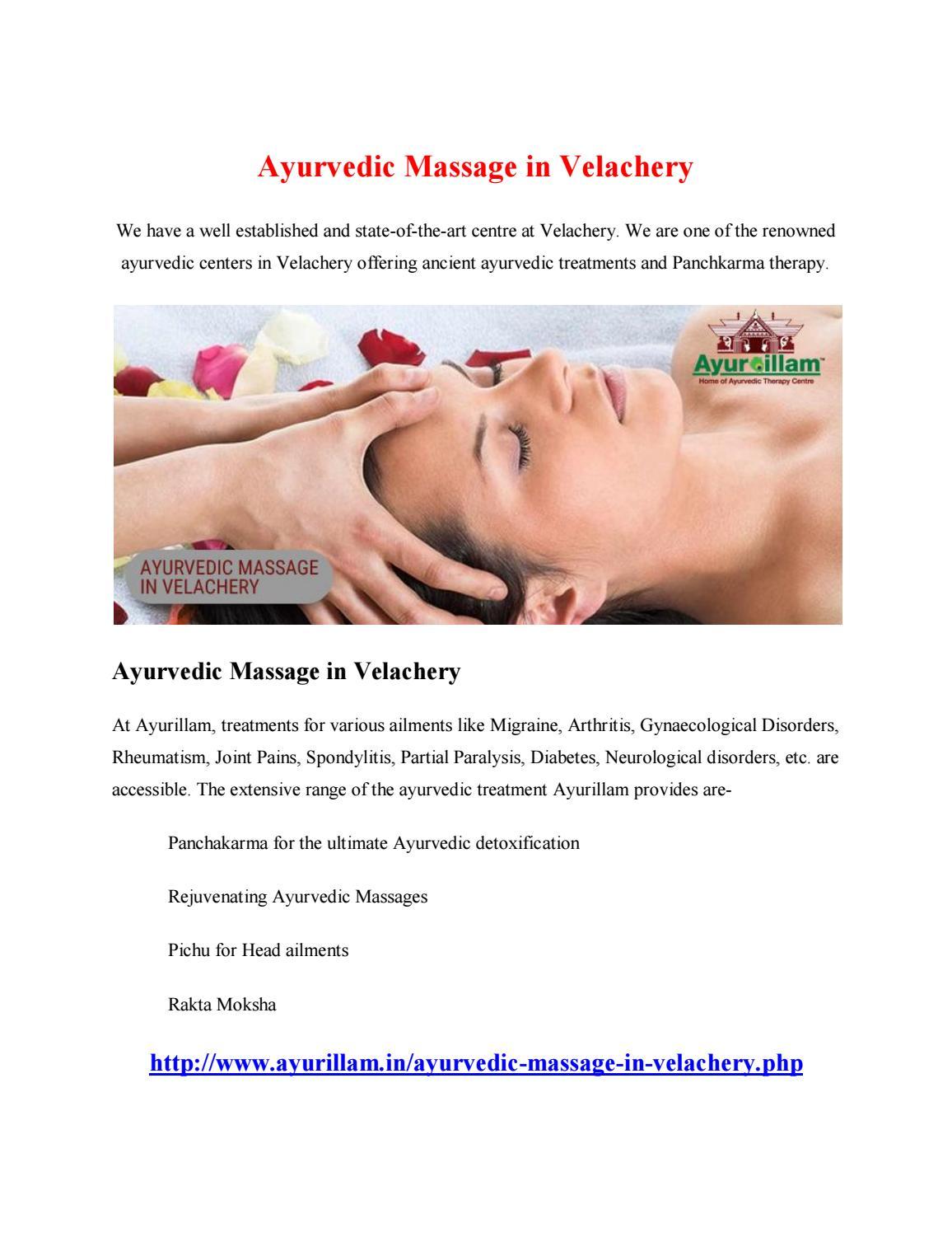 Ayurvedic massage in velachery by kumarakannan - issuu