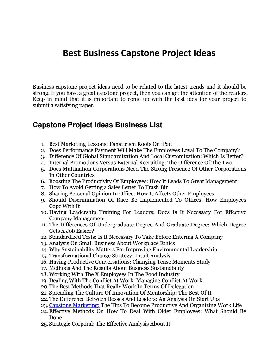 Professional Capstone Papers Writing Services