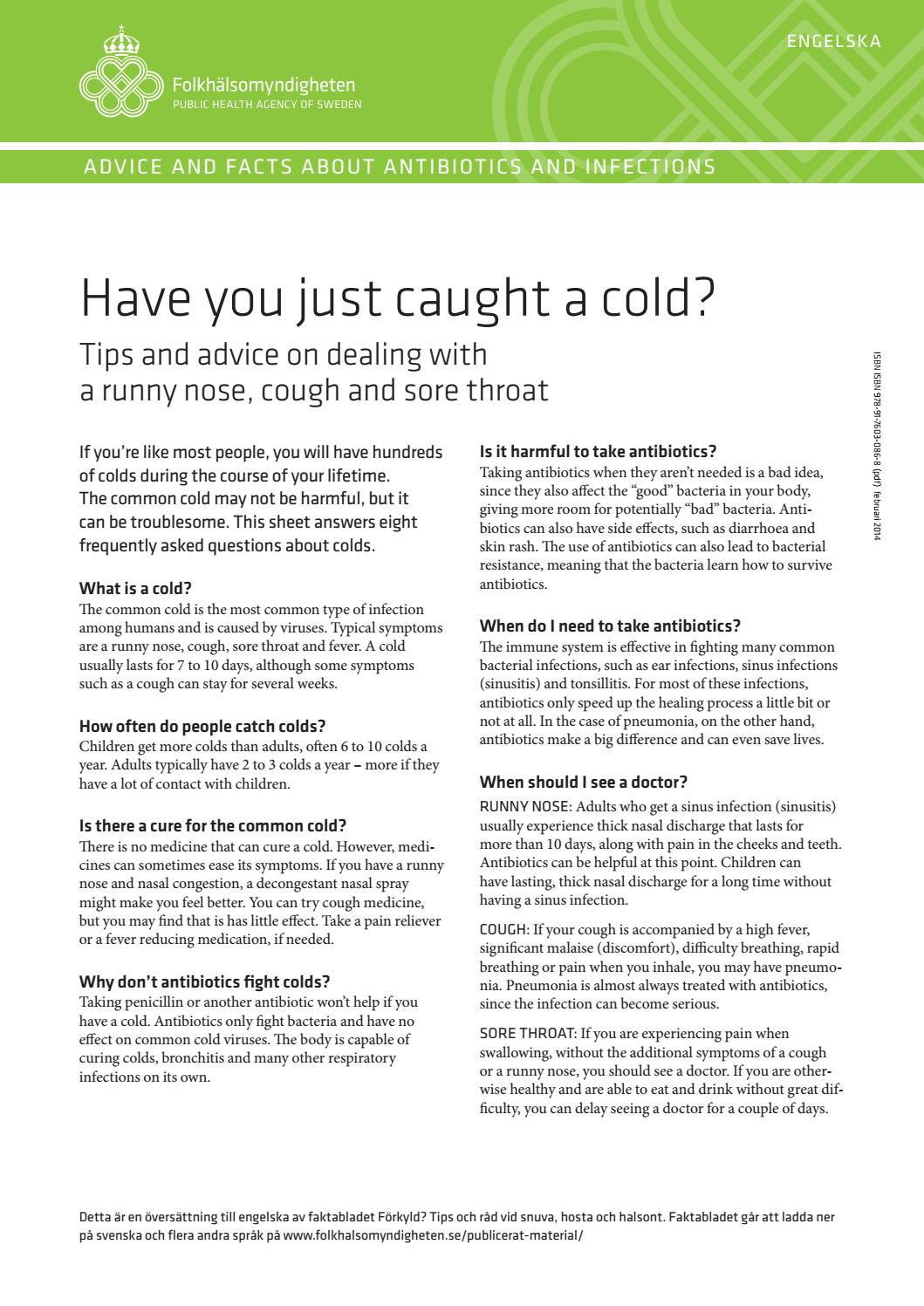 What medicines can make you feel cold