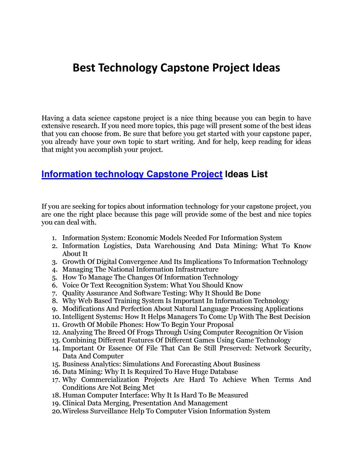 How To Write A Capstone Project Outline: Steps and Example
