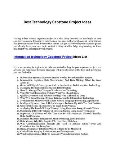 capstone project bsit
