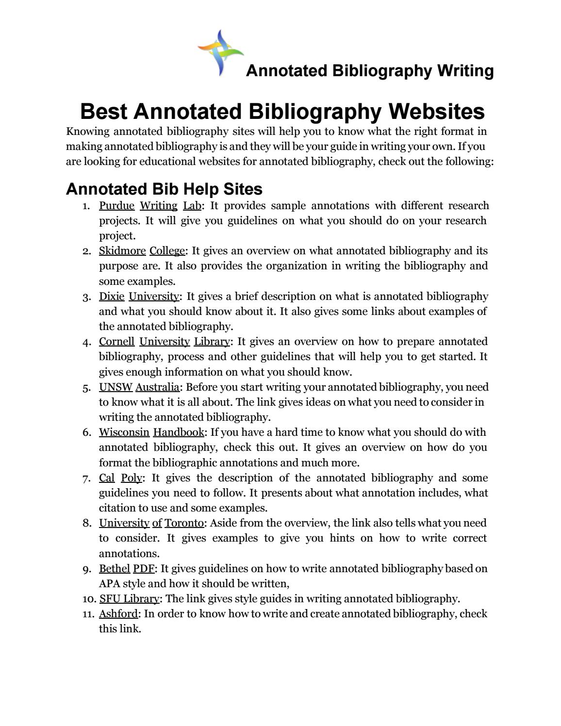 Pay to get best annotated bibliography best university essay editor websites