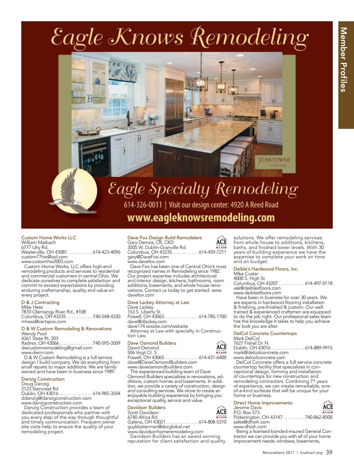 2017 Nari Of Central Ohio Remodeling Resource Magazine By Cityscene