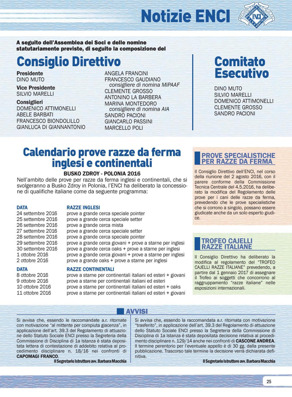 Enci Calendario Prove.I Nostri Cani Settembre 2016 By Enci Ente Nazionale
