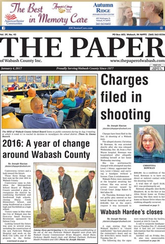 The Paper Of Wabash County Jan 4 2017 Issue By The Paper Of