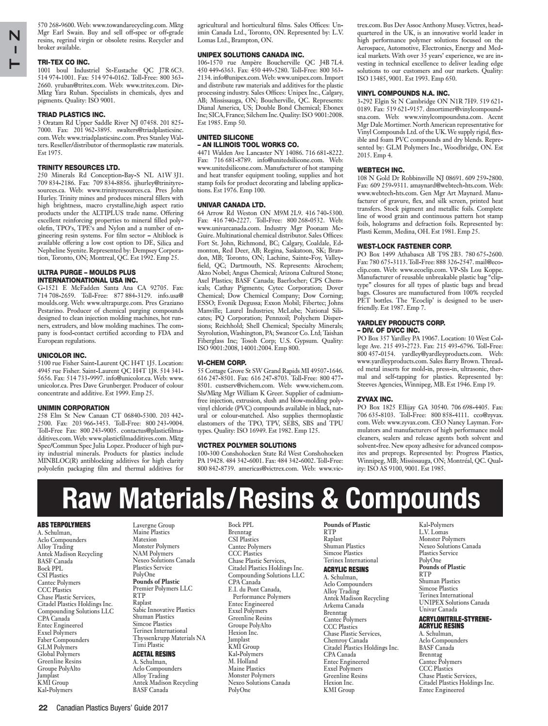 Canadian Plastics 2017 Buyers Guide by Annex Business Media